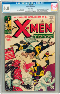 X-Men #1 (Marvel, 1963) CGC FN 6.0 White pages