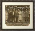 Autographs:Others, 1924 Babe Ruth, Ty Cobb, John McGraw Signed Large PhotographPresented to Jack Dempsey....