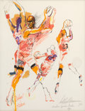 Basketball Collectibles:Others, 1990 Michael Jordan Original Artwork by LeRoy Neiman....
