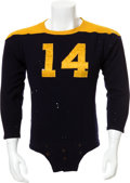 Football Collectibles:Uniforms, 1937-45 Don Hutson Game Worn Green Bay Packers Jersey....