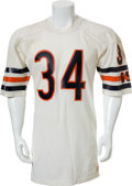 Football Collectibles:Uniforms, 1987 Walter Payton Chicago Bears Jersey Worn in Final Regular Season Game with Photo Matches....