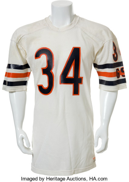 wholesale dealer eb8c6 c5fc6 1987 Walter Payton Chicago Bears Jersey Worn in Final ...