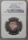Barber Half Dollars: , 1894 50C --Artificial Toning--NGC Details. Unc. NGC Census:(3/108). PCGS Population (3/102). Mintage: 1,148,972. Numismedia...