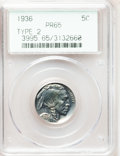 Proof Buffalo Nickels, 1936 5C Type Two--Brilliant Finish PR65 PCGS....
