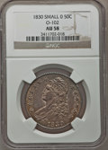 Bust Half Dollars: , 1830 50C Small 0 AU58 NGC. O-102. NGC Census: (372/445). PCGSPopulation (198/300). Mintage: 4,764,800. Numismedia Wsl. Pr...