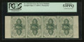 Fractional Currency:First Issue, Vertical Strip of Four Fr. 1242 10¢ First Issue PCGS About New53PPQ.. ...