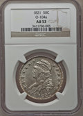 Bust Half Dollars: , 1821 50C AU53 NGC. O-104a. NGC Census: (41/268). PCGS Population(53/245). Mintage: 1,305,797. Numismedia Wsl. Price for p...