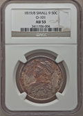 Bust Half Dollars: , 1819/8 50C Small 9 AU53 NGC. O-101. NGC Census: (29/127). PCGSPopulation (12/68). Numismedia Wsl. Price for problem free...
