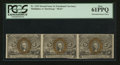 Fractional Currency:Second Issue, Horizontal Strip of Three Fr. 1233 5¢ Second Issue PCGS New 61PPQ.. ...