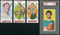 Basketball Cards:Lots, 1969 & 1970 Topps Basketball Collection (14) With SignedWilkins & Jabbar. ...