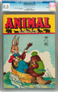 Golden Age (1938-1955):Funny Animal, Animal Comics #12 File Copy (Dell, 1944) CGC VF+ 8.5 Cream tooff-white pages....
