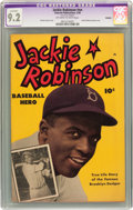 Golden Age (1938-1955):Non-Fiction, Jackie Robinson #nn (Fawcett, 1950) CGC Apparent NM- 9.2 Off-whiteto white pages....