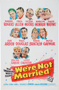 Memorabilia:Poster, We're Not Married Movie Poster (20th Century Fox, 1952)....