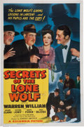 Memorabilia:Poster, Secrets of the Lone Wolf Movie Poster (Columbia, 1941)....