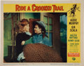 Memorabilia:Poster, Ride a Crooked Trail Lobby Card (Universal-International,1958)....