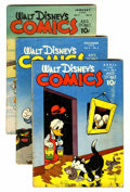 Golden Age (1938-1955):Cartoon Character, Walt Disney's Comics and Stories Group (Dell, 1945-49) Condition:Average GD+.... (Total: 7 Comic Books)