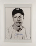 Baseball Collectibles:Photos, Joe DiMaggio Signed Oversized Photograph....