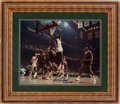 Basketball Collectibles:Photos, Bill Russell Signed Oversized Photograph....