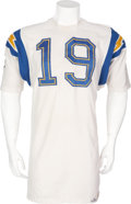 Football Collectibles:Uniforms, 1964-65 Lance Alworth Game Worn San Diego Chargers Jersey....