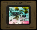 "Movie Posters:War, The Fighting Lady (20th Century Fox, 1944). Glass Slide (3.25"" X4). War.. ..."