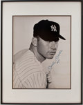 Baseball Collectibles:Photos, Mickey Mantle Signed Oversized Photograph. ...