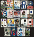 Football Collectibles:Others, Signed Football Cards And Uniform Swatches Collection Of 19....