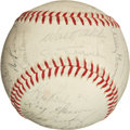 Autographs:Baseballs, 1963 Los Angeles Dodgers Team Signed Baseball. (WorldChampions!!)...