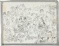 "Original Comic Art:Sketches, S. Clay Wilson Oversized Sketchbook Page ""Hogs"" Original Art (undated)...."