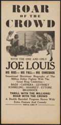 "Movie Posters:Sports, Roar of the Crowd (Norman, 1953). Herald (6"" X 12.5""). Sports.. ..."
