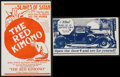 """Movie Posters:Drama, The Red Kimono & Other Lot (States Rights Independent Exchanges, 1925). Heralds (2) (6.25"""" X 9.5"""") & (4.75"""" X 8.25""""), Poster... (Total: 4 Items)"""