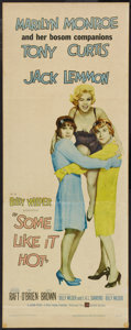 """Movie Posters:Comedy, Some Like It Hot (United Artists, 1959). Insert (14"""" X 36""""). Comedy.. ..."""