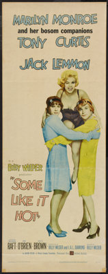 """Some Like It Hot (United Artists, 1959). Insert (14"""" X 36""""). Comedy"""