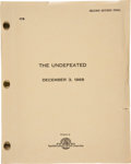 "Movie/TV Memorabilia:Memorabilia, A Script from ""The Undefeated.""..."