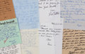 Movie/TV Memorabilia:Memorabilia, A Movie Star Group of Handwritten Letters, 1950s-1970s....