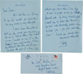 Movie/TV Memorabilia:Memorabilia, A Lauren 'Betty' Bacall Handwritten Letter, 1979....