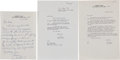 Movie/TV Memorabilia:Memorabilia, A James Cagney Group of Signed Letters, 1970-1979....