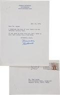 Movie/TV Memorabilia:Memorabilia, A Norman Rockwell Signed Letter, 1976....