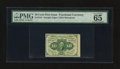 Fractional Currency:First Issue, Fr. 1242 10¢ First Issue with Broad Right Selvage PMG GemUncirculated 65 EPQ.. ...