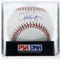 "Autographs:Baseballs, Alex Rodriguez ""#13"" Single Signed Baseball, PSA Mint+ 9.5. At thetime of this writing, the superior slugger Alex Rodriguez..."