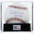 "Autographs:Baseballs, Bobby Doerr ""HOF 86"" Single Signed Baseball, PSA Gem Mint 10. Onthe same scouting trip that Eddie Collins signed Ted Willi..."