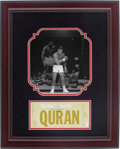 Boxing Collectibles:Autographs, Muhammad Ali Signed Shadowbox Figurine Display....