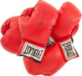 Boxing Collectibles:Autographs, Boxing Legends Signed Gloves Lot of 3....