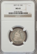 Seated Quarters, 1877-CC 25C MS65 NGC....