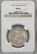 Seated Half Dollars, 1873 50C Arrows MS62 NGC....