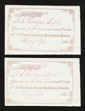 National Bank Notes:West Virginia, Parkersburg, (WV) - The Parkersburg NB (Ch. # 1427) Due Note TwoExamples. ... (Total: 2 items)