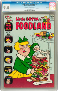 Little Lotta Foodland #5 File Copy (Harvey, 1964) CGC NM 9.4 Off-white to white pages
