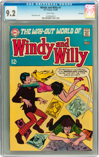 Windy and Willy #1 Savannah pedigree (DC, 1969) CGC NM- 9.2 White pages