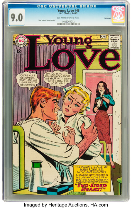 Young Love #48 Savannah pedigree (DC, 1965) CGC VF/NM 9.0 Off-white to white pages....
