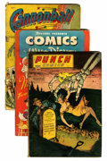 Golden Age (1938-1955):Miscellaneous, Comic Books - Assorted Golden Age Comics Group (Various, 1940s) Condition: Average GD.... (Total: 8 Comic Books)