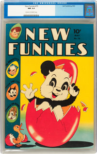 New Funnies #75 (Dell, 1943) CGC NM 9.4 Cream to off-white pages